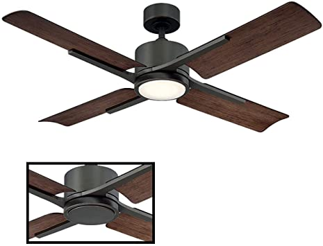 Amazon.com: Cervates Indoor/Outdoor 4-Blade Smart Ceiling Fan 56in .