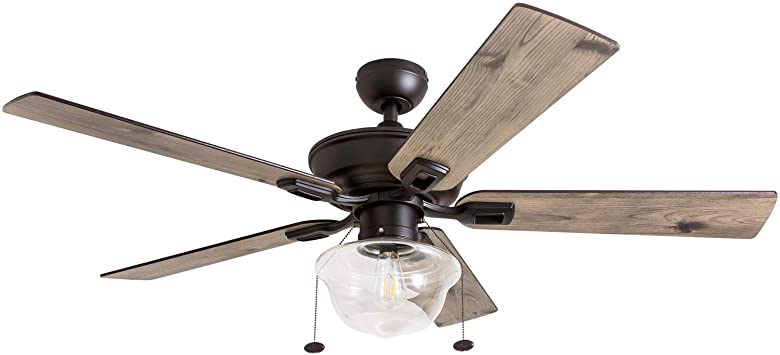 Prominence Home 80091-01 Abner Vintage Indoor/Outdoor Ceiling Fan .
