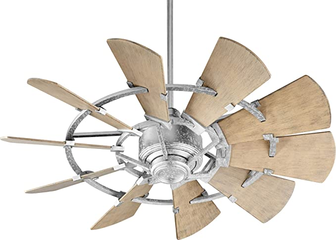 """Quorum Windmill 44"""" Indoor/Outdoor Ceiling Fan in Galvanized ."""