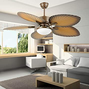 Amazon.com: Tropical Palm Ceiling Fan, Five Palm Leaf Blades With .