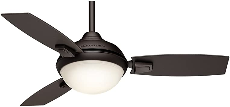 Casablanca Indoor/Outdoor Ceiling Fan with LED Light and remote .