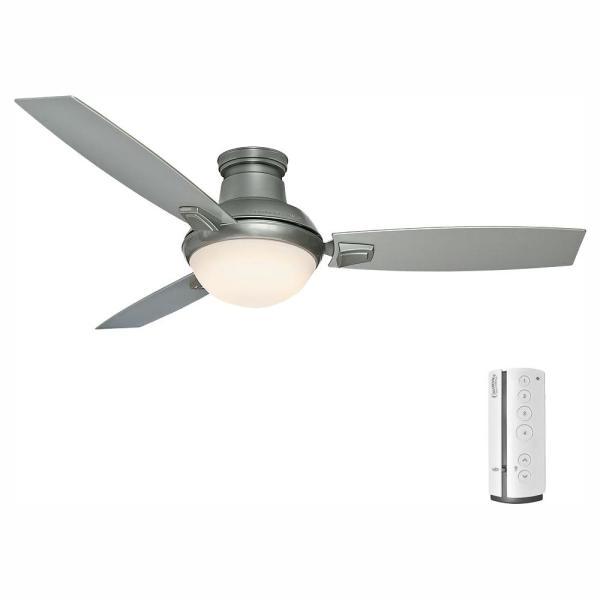 Casablanca Verse 54 in. LED Indoor/Outdoor Satin Nickel Ceiling .