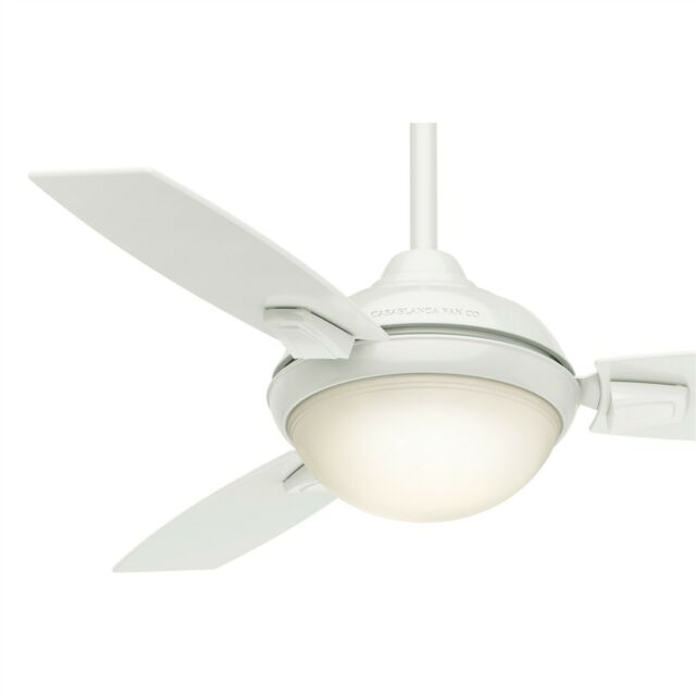"44"" Casablanca Outdoor Ceiling Fan, Fresh White - LED Lighting w ."