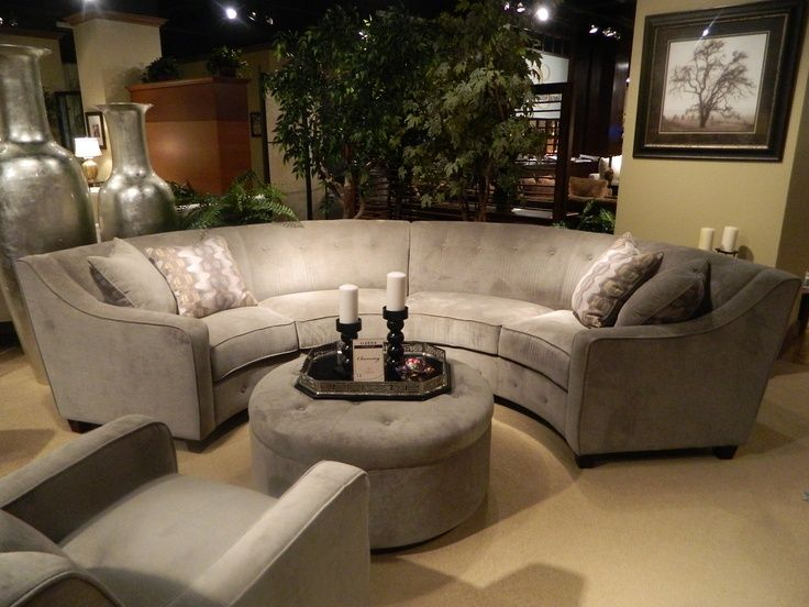 Circular Sectional Sofa | New Gray Silver Round Sectional. I loved .