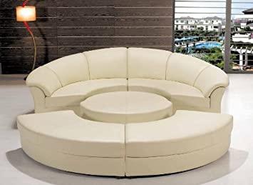 Amazon.com: Contemporary Plan Modern Circle Sectional Sofa Set .