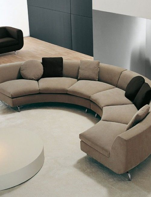Modern curved sectional sofa | Sofás modulares, Sofás seccionales .