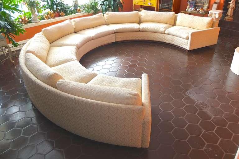 Milo Baughman for Thayer Coggin Circular Sectional Sofa at 1stdi