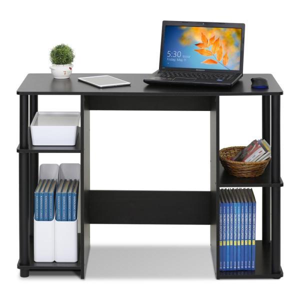 Furinno 39 in. Rectangular Espresso Computer Desk with Open .