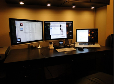 Attaching two monitors with your laptop.   Home office setup .