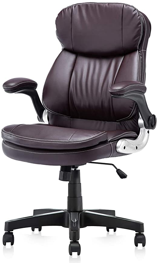 Amazon.com: KERMS High Back PU Leather Executive Office Chair .