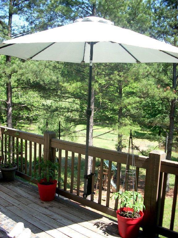 Umbrella mount for deck!! | Patio, Deck umbrella, Patio umbrell