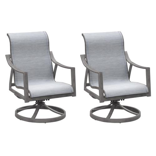 Backyard Creations® Hilton Point Swivel Rocker Patio Chair - 2 .