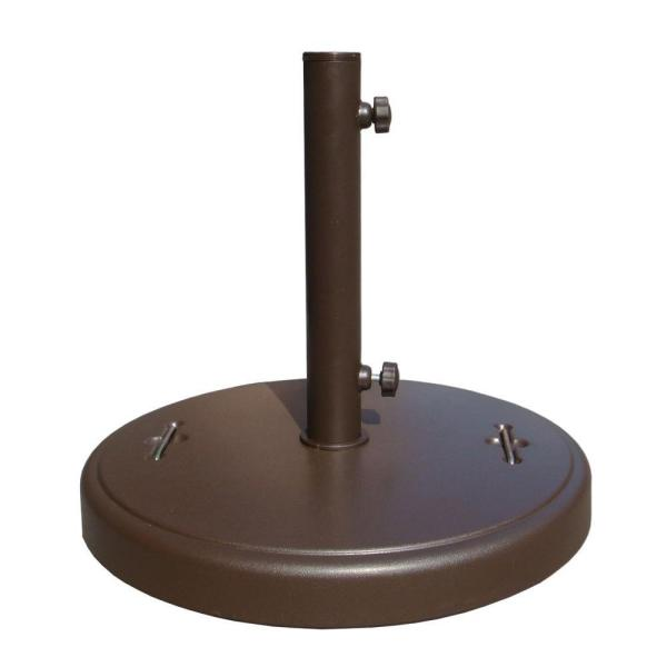86 lbs. Brown Patio Umbrella Base with Hidden Wheels DWTH37U-B .