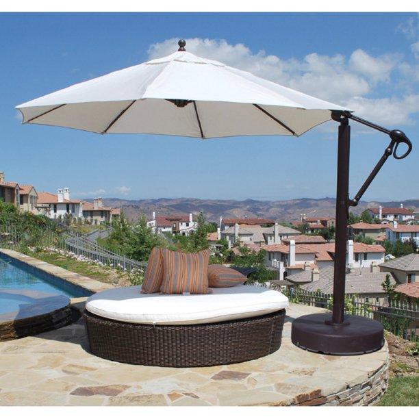 Galtech 11 ft. Cantilever Aluminum Sunbrella Patio Umbrella with .
