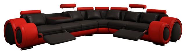 Divani Casa 4087 Modern Bonded Leather Sectional Sofa .