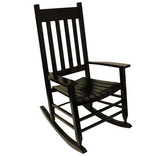 Style Selections Black Wood Rocking Chair(s) with Slat Seat in the .