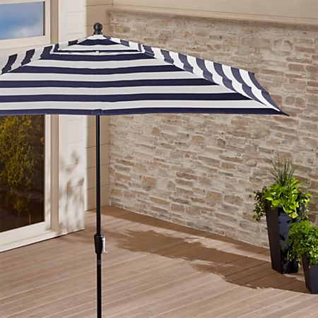 Striped Rectangle Patio Umbrella + Reviews   Crate and Barr