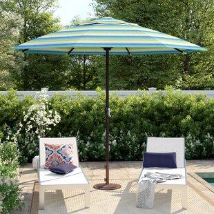 Striped Sunbrella Patio Umbrellas You'll Love in 2020   Wayfa