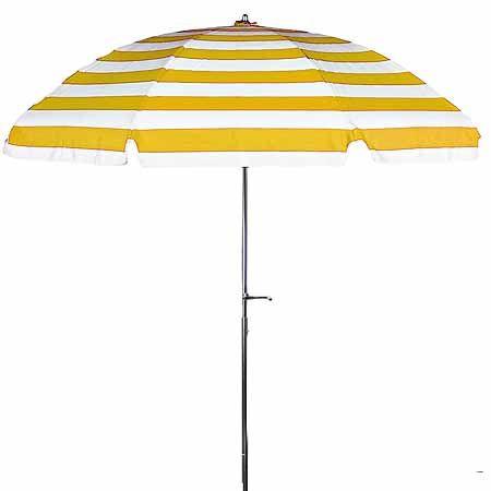 7.5' Sunbrella Yellow & White Striped Patio Umbrella $174 .