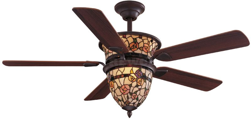 """52"""" Ceiling Fan Victorian Tiffany Style with Light $249.00 ."""