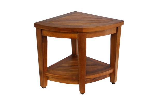 ... ala teak corner teak bathtub spa shower stool corner table UKJAUXR