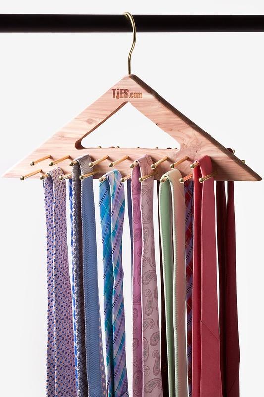 ... hanging tie stand made of cedar wood ... HAZJDYQ