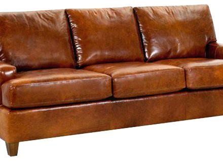 ... cool leather sofa queen-size Dupontstay in brown leather KOTPUGM