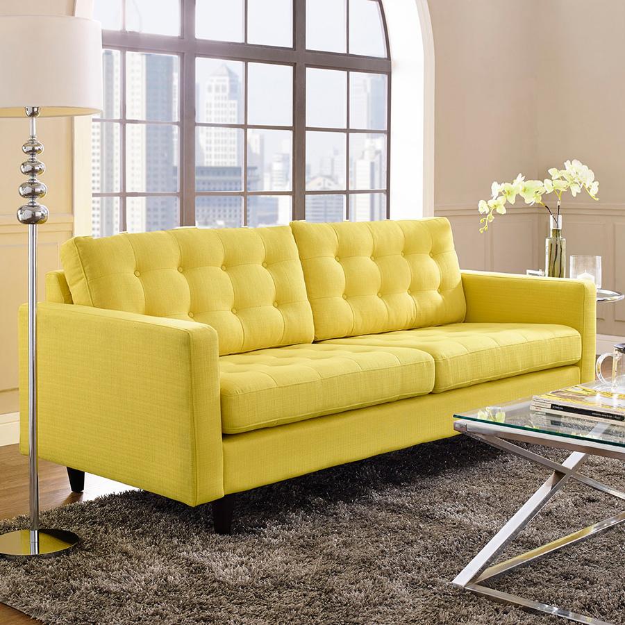... enfield modern yellow sofa XDUFBSC