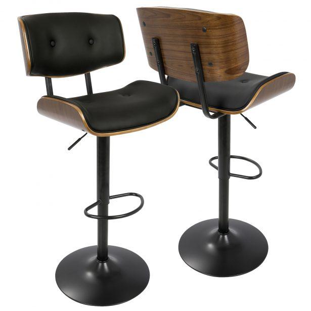 ... medium-sized bar stool: adjustable swivel bar stool with back RODLDTY