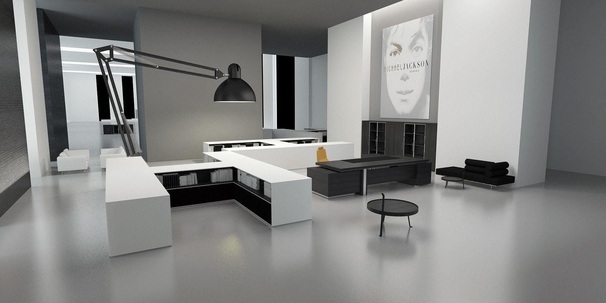 ... modern office equipment 3D model max ... KAFYKMV