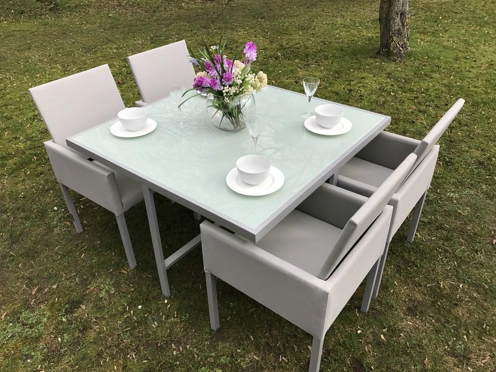 ... Oakita elle 4 cube aluminum garden dining set ... BRMHTHN
