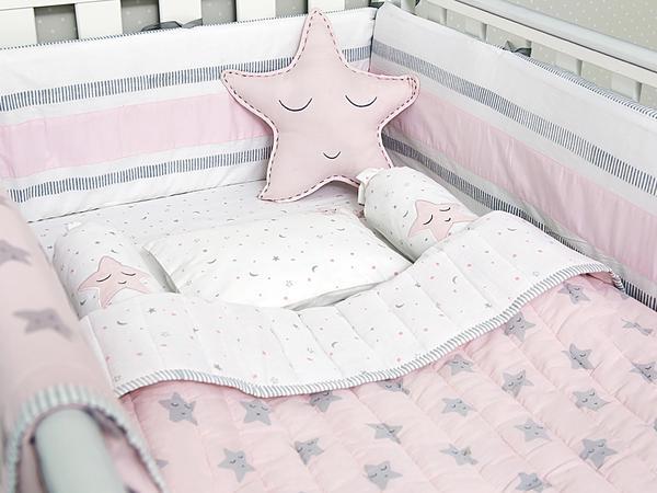 u0027sleepy staru0027 organic bedding set (pink) SFYJFRT