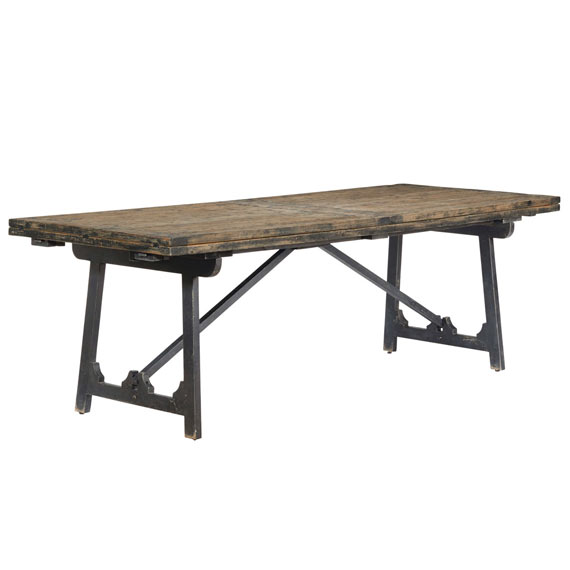 ... winglefield extendable dining table - blackened pine ... GLRZMNE