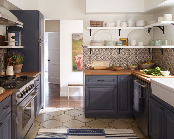100+ Kitchen Design Ideas - Pictures of Country House Kitchens That Inspire Decoration LXVBUJW