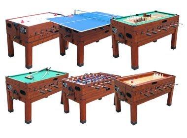 13 in 1 combination game table in cherry from Berner Billard AKXKUHZ