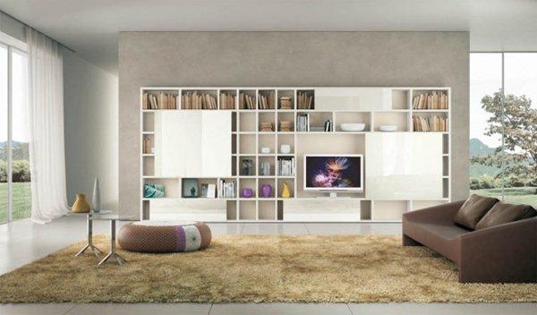 15 fascinating modern living room shelves for any modern home UHGJRKP