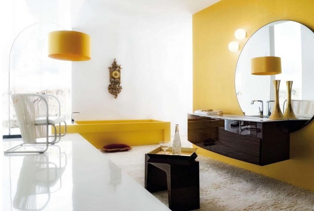Creative yellow bathroom