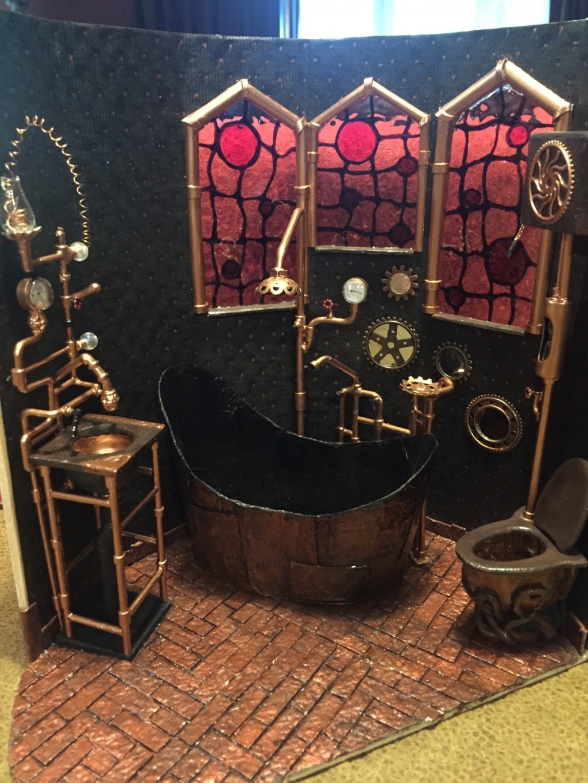 Strange steampunk bathroom