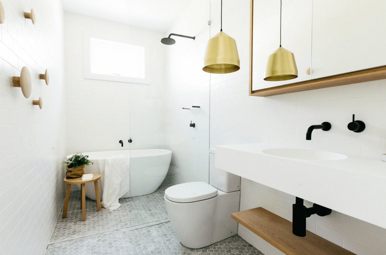 Nice white and gold bathroom