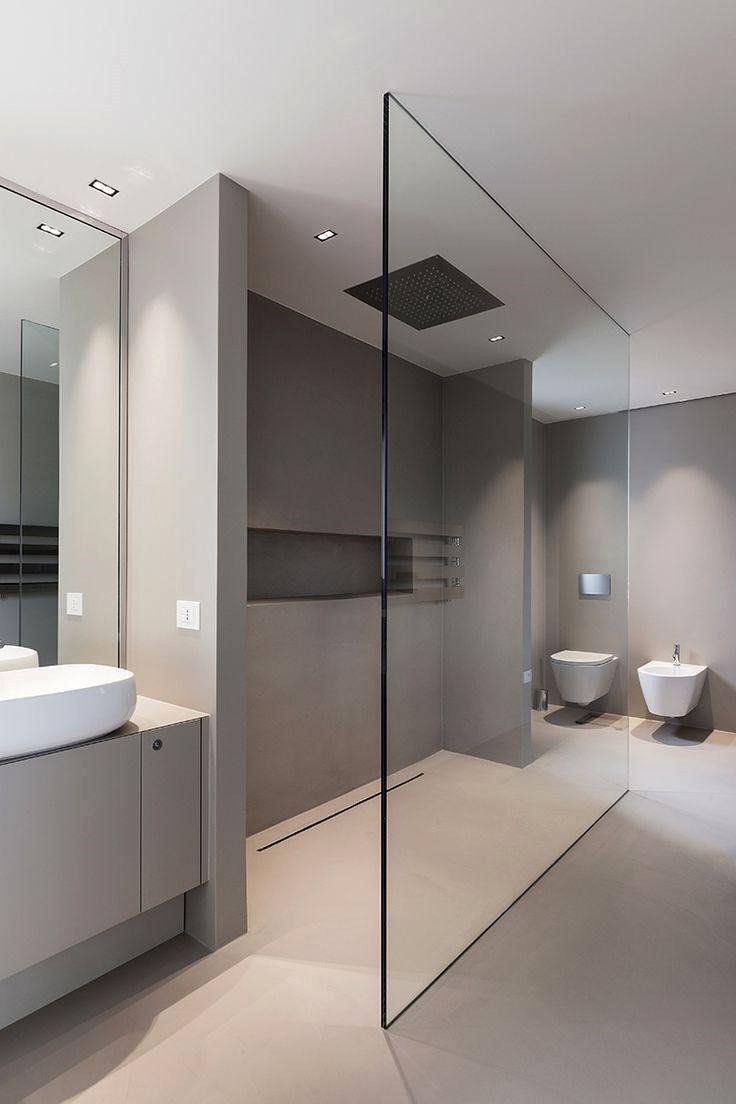 Slim office bathroom