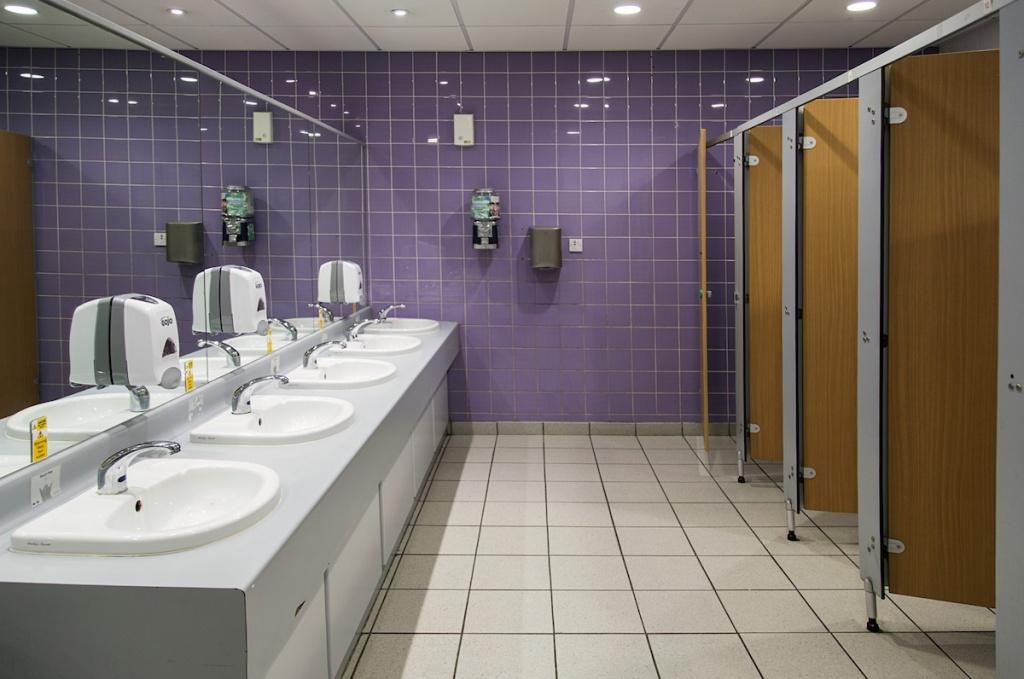 Energetic office bathroom