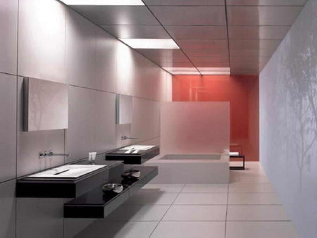 Futuristic office bathroom