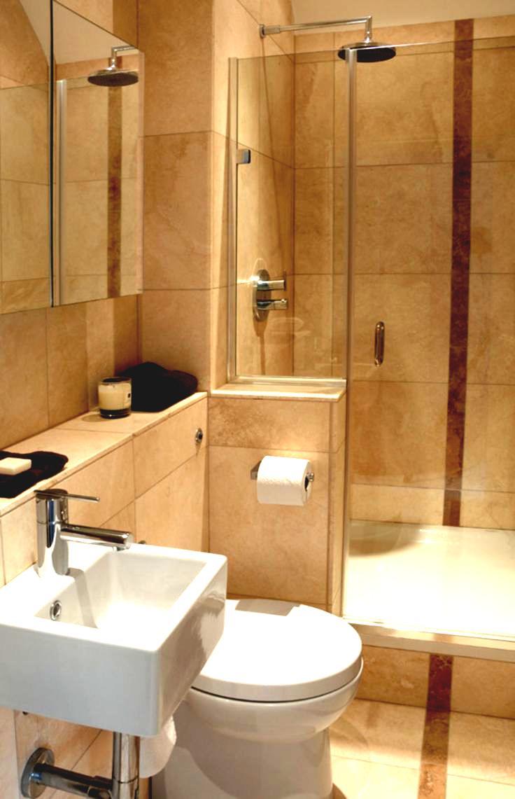 Casual beige bathroom