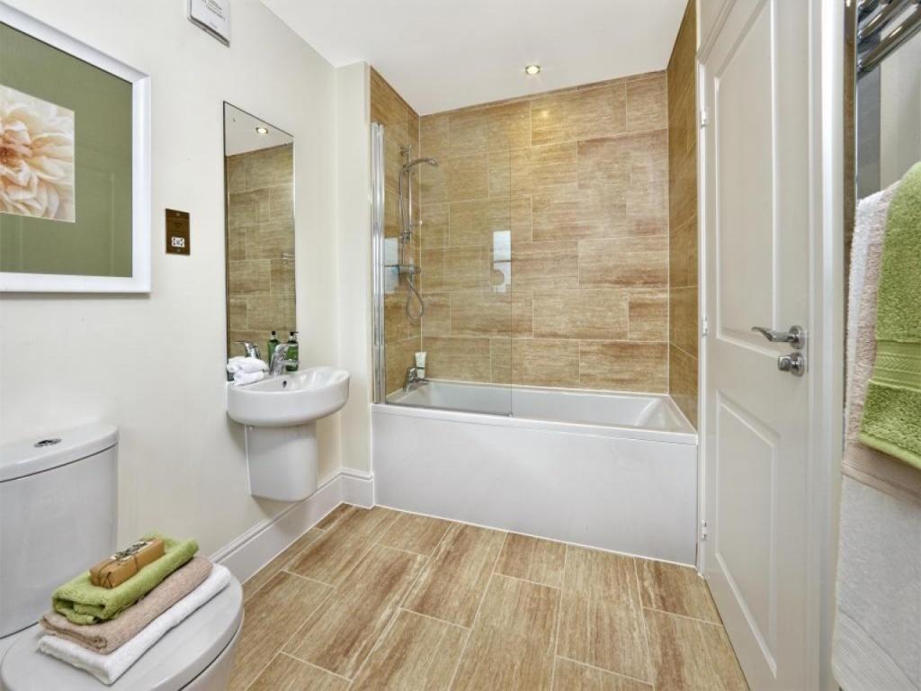 Comfortable beige bathroom