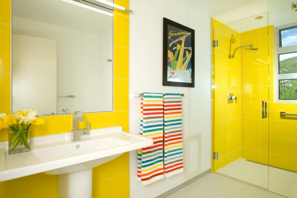 Light yellow bathroom