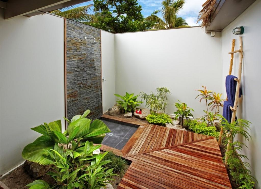 Pleasant outside bathroom