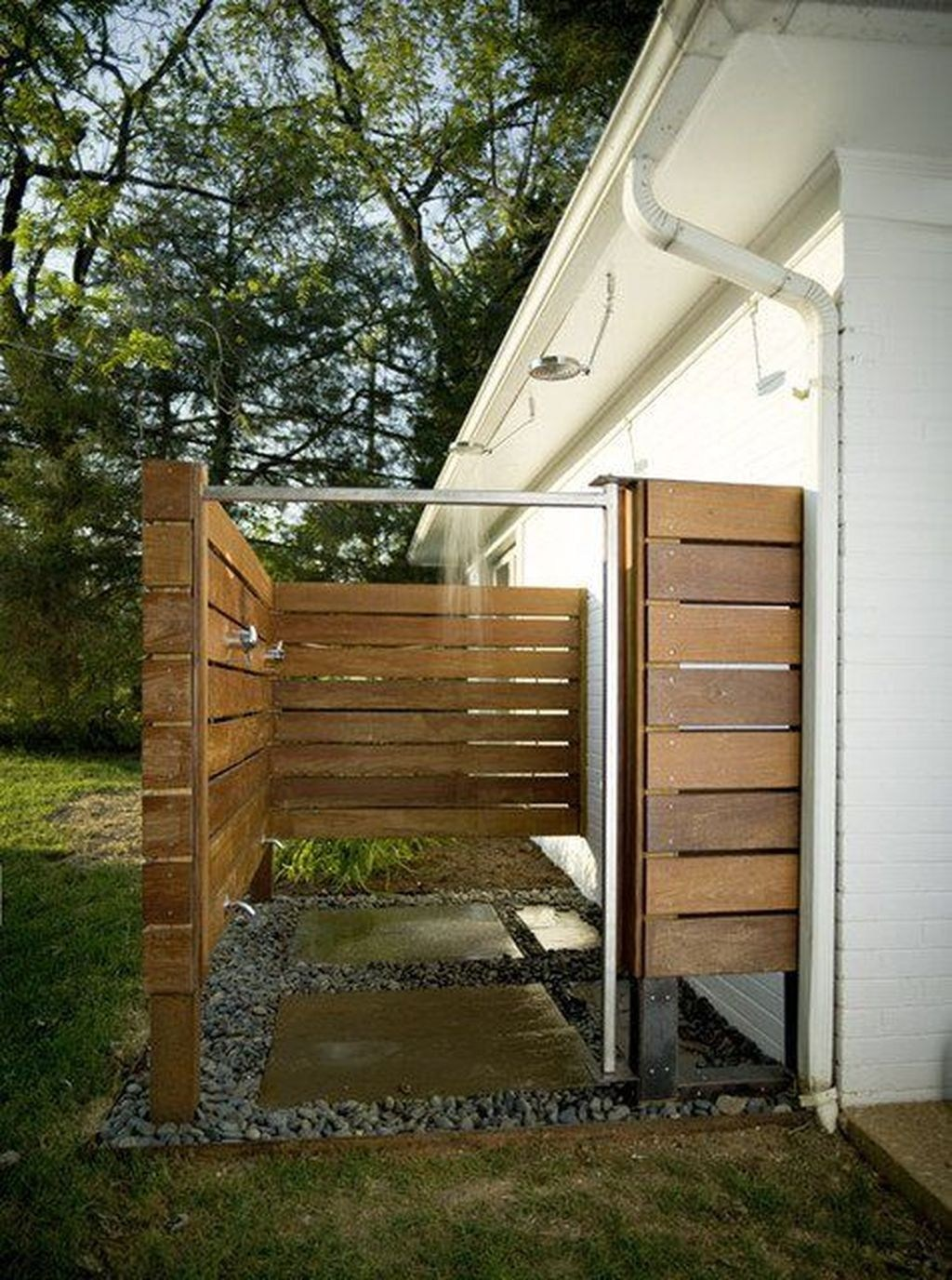 Simple outside bathroom