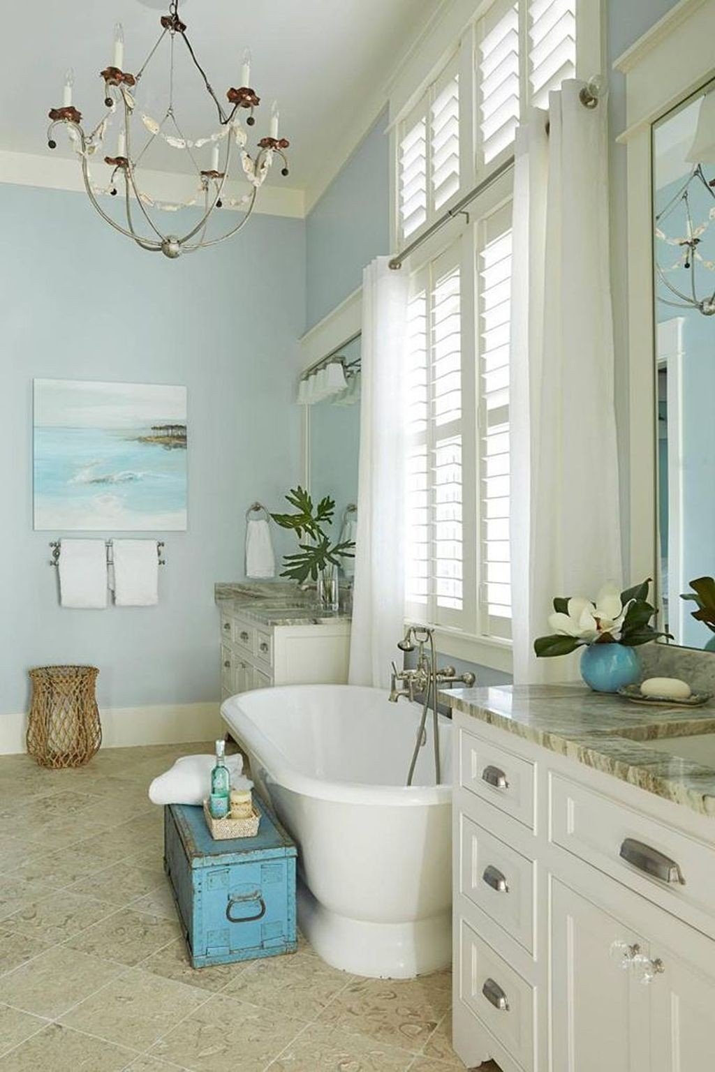 Nice bathroom by the sea