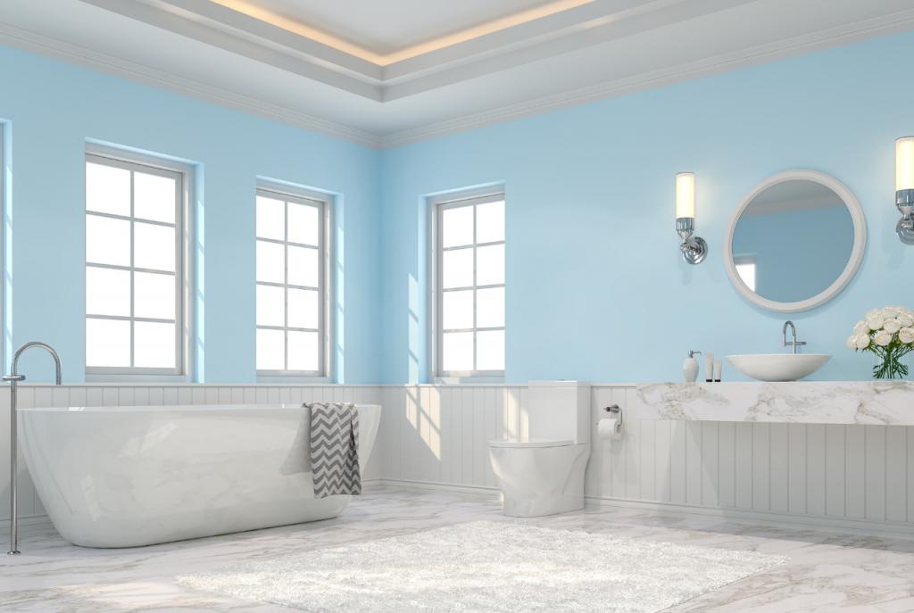 Fresh marble bathroom