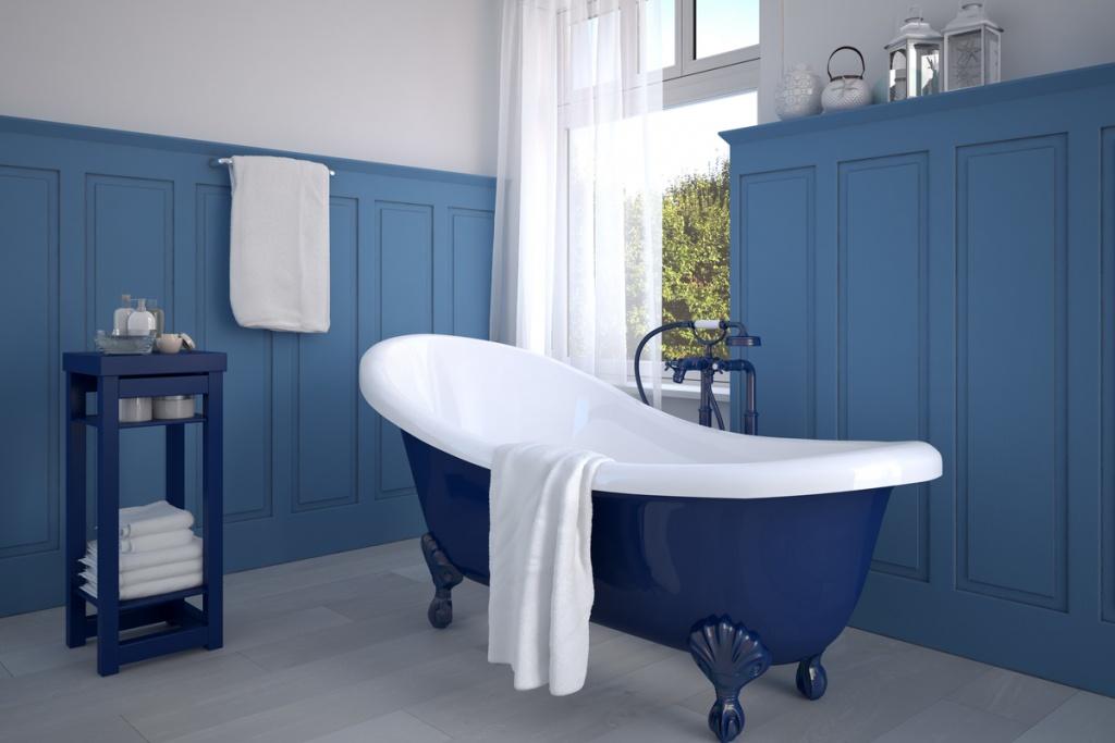 Elegant bathroom cladding